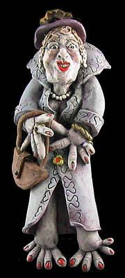 Ceramic Art - Myrna by Judy  Hensley