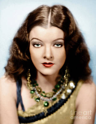 Photograph - Myrna Loy by Granger