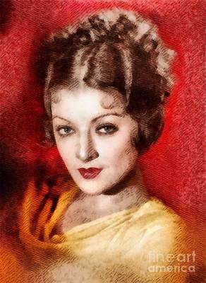 Myrna Loy, Vintage Actress By John Springfield Art Print by John Springfield