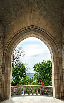 Photograph - Myron Taylor Hall Archway by Optical Playground By MP Ray