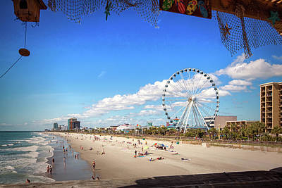 Photograph - Myrtle Beach Boardwalk And Skywheel by Bill Swartwout Fine Art Photography