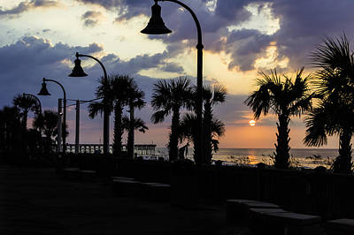 Photograph - Myrtle Beach Boardwalk Sunrise by David Smith