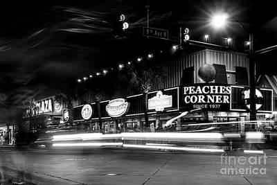 Peaches Corner Photograph - Myrtle Beach Boulevard Black And White by David Smith