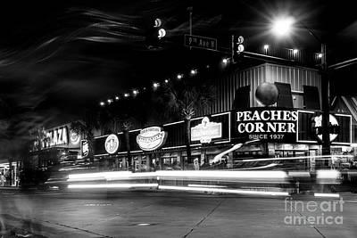Myrtle Beach Boulevard Black And White Art Print by David Smith