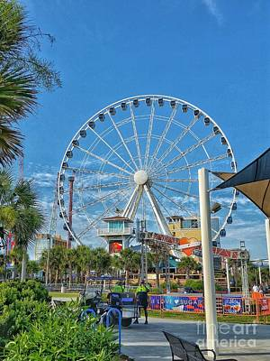 Photograph - Myrtle Beach Ferris Wheel by Tony Baca