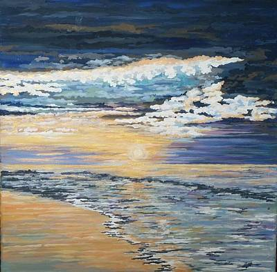 Painting - Myrtle Beach by Jeleata Nicole