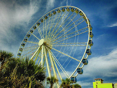 Photograph - Myrtle Beach Skywheel by Bill Barber
