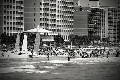 Photograph - Myrtle Beach, South Carolina 12 B W 1 by Joseph C Hinson Photography