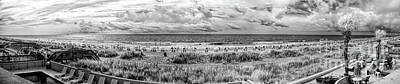 Photograph - Myrtle Beach South Carolina Panorama Bw by Dan Carmichael