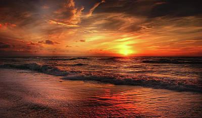 Photograph - Myrtle Beach South Carolina Sunrise by Movie Poster Prints