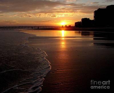 Myrtle Beach Sunset Print by Patricia L Davidson