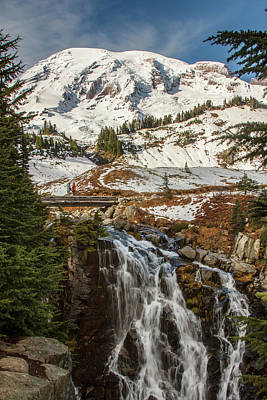 Photograph - Myrtle Falls, Mt Rainier by Tony Locke