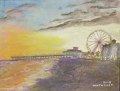 Pastel - Myrtle Sunset by Vincent Matheney