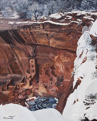 Painting - Mysterious City Of The Anasazi - Mesa Verde by Barbara Barber