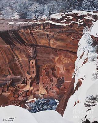 Mysterious City Of The Anasazi - Mesa Verde Art Print by Barbara Barber