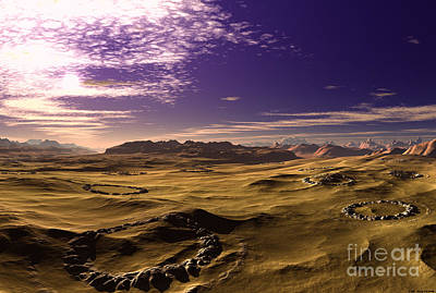 Mysterious Desert 2 Art Print
