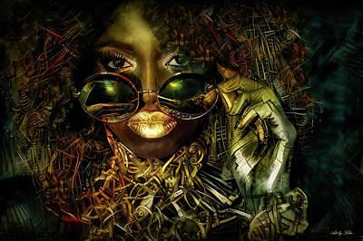 Mixed Media - Mysterious Enchantress  by Lilia D