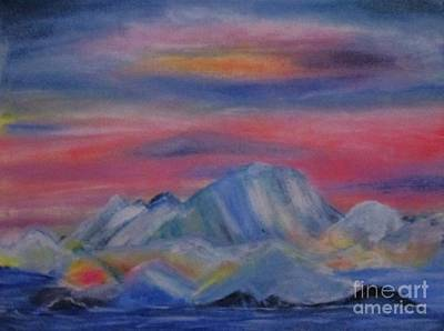 Painting - Mysterious Glaciers by Sharon Ackley