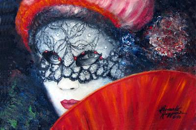 Carneval Painting - Mysterious Illusion by Leonardo Ruggieri