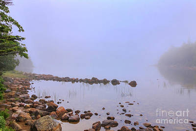 Photograph - Mysterious Jordan Pond by Elizabeth Dow