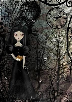 Goth Girl Digital Art - Mysterious Kingdom by Charlene Zatloukal