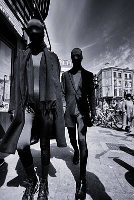 Photograph - Mysterious Men Dressed In Black Brick Lane by John Williams