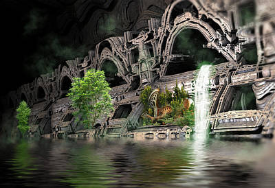 Digital Art - Mysterious Place by Hal Tenny