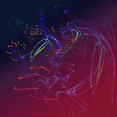 Photograph - Mysterious Play Of Lights. Magenta Red by Jenny Rainbow