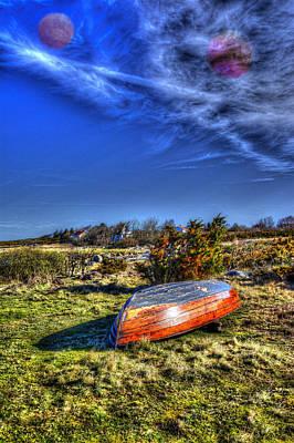 Canoe Digital Art - Mysterious Sky  by Tommytechno Sweden