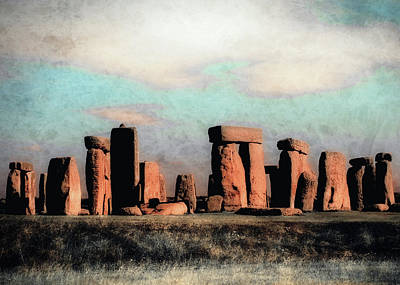 Print featuring the photograph Mysterious Stonehenge by Jim Hill