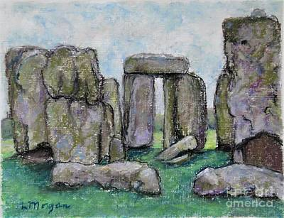 Painting - Mysterious Stonehenge by Laurie Morgan