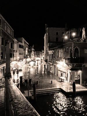 Mysterious Venice Monochrom Art Print