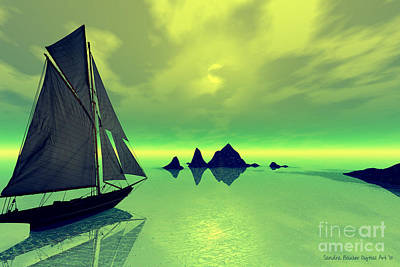 Digital Art - Mysterious Voyage by Sandra Bauser Digital Art