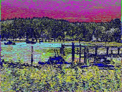 Pier Digital Art - Mystery Bay At Sunset by Tim Allen