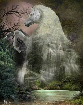Digital Art - Mystery Falls by Ali Oppy