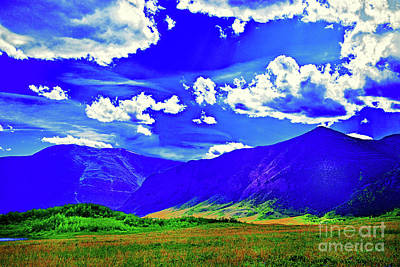Digital Art - Mystery Hills by Rick Bragan