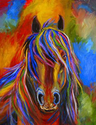 Mystery Horse Art Print by Mary Jo Zorad