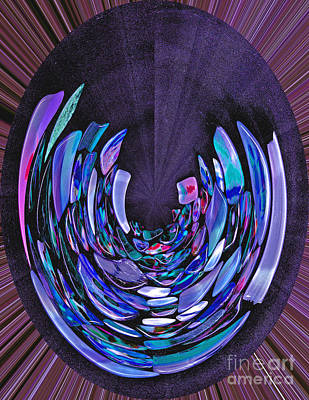 Digital Art - Mystery In Blue And Purple by Nareeta Martin
