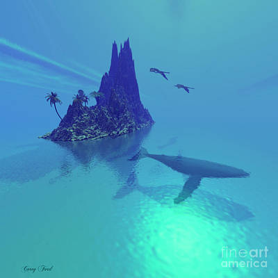 Humpback Whale Painting - Mystery Island by Corey Ford
