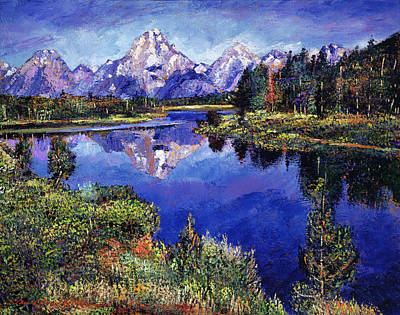 Impressionism Paintings - Mystery Lake by David Lloyd Glover