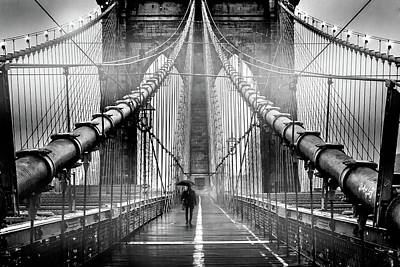Brooklyn Bridge Photograph - Mystery Manhattan by Az Jackson