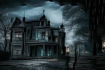 Haunted Mansion Digital Art - Mystery Manor by Mystary