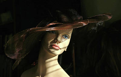 Photograph - Mystery Model In Big Hat by Nareeta Martin