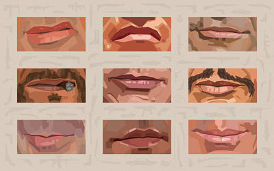 Stallone Digital Art - Mystery Mouths Of The Action Genre by Mitch Frey