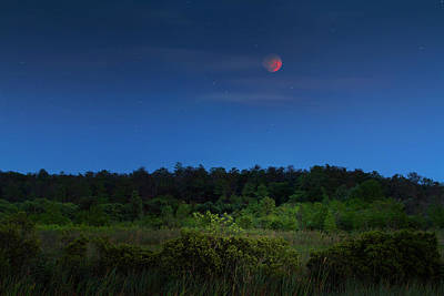 Photograph - Mystery Of The Harvest Moon by Mark Andrew Thomas