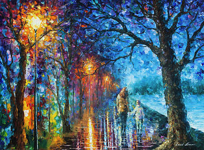 Mystery Of The Night Art Print by Leonid Afremov