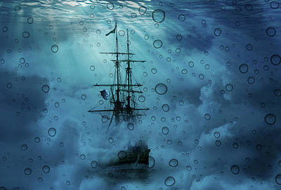 Mystery Ship Underwater Art Print by Stephanie Laird