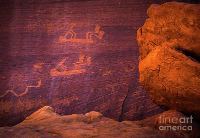 Ceremonial Photograph - Mystery Valley Rock Art by Inge Johnsson