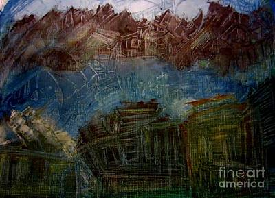 Mystery Painting - Mystery Village by Stephanie Zelaya