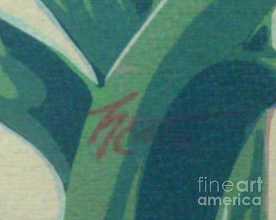 Photograph - Mystery Zebra Silkscreen Artist Signature Unknown by Michael Hoard